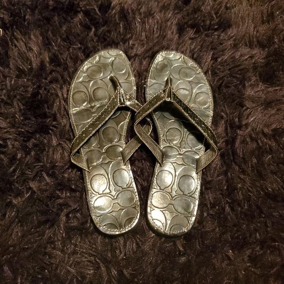 Coach Shoes - Coach black flip flop